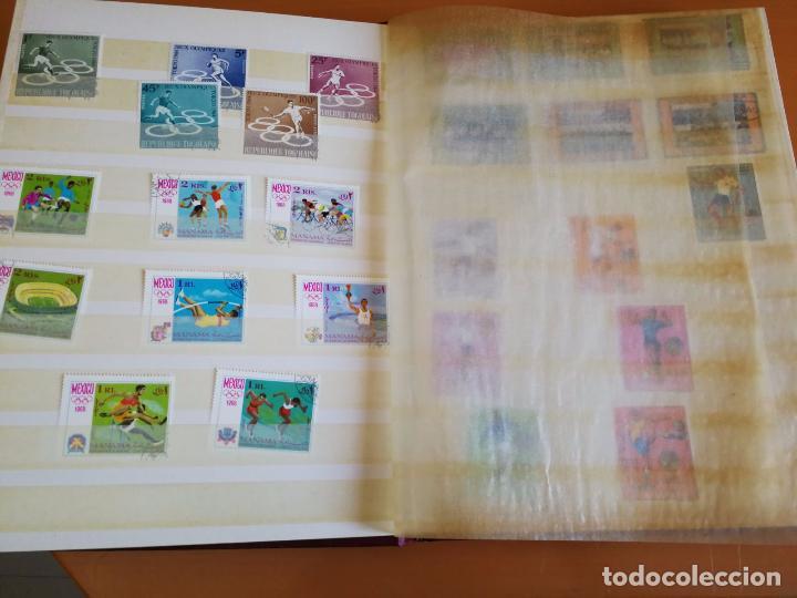 Sellos: Álbum de sellos para coleccionista - Incluye 317 sellos de olimpiadas y animales - 30 x 23 cm - Foto 3 - 86020384