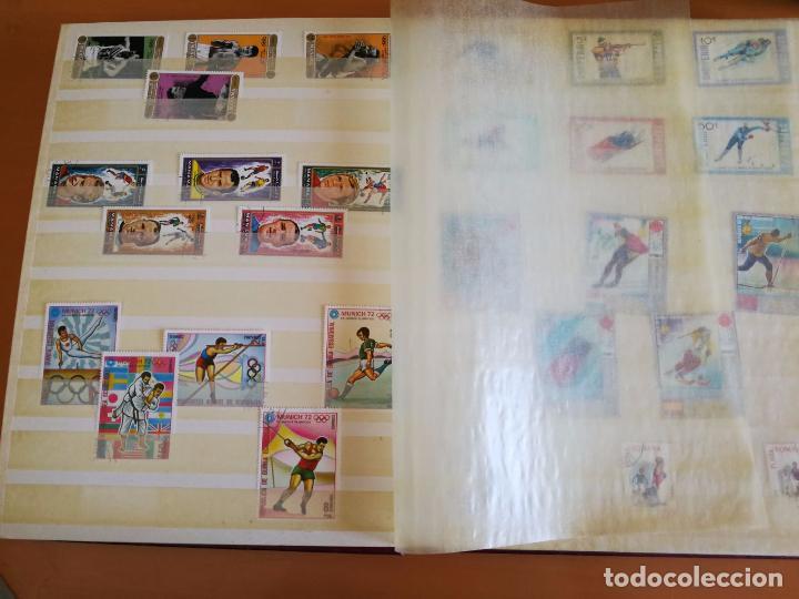 Sellos: Álbum de sellos para coleccionista - Incluye 317 sellos de olimpiadas y animales - 30 x 23 cm - Foto 4 - 86020384
