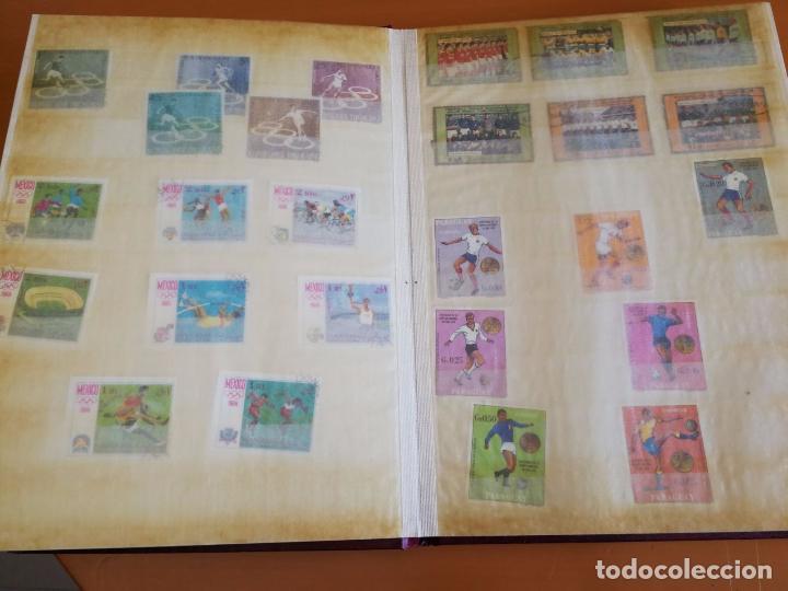 Sellos: Álbum de sellos para coleccionista - Incluye 317 sellos de olimpiadas y animales - 30 x 23 cm - Foto 5 - 86020384