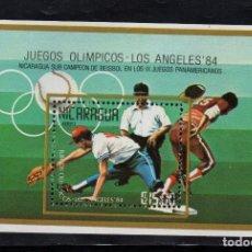 Sellos: NICARAGUA HB 167** - AÑO 1984 - JUEGOS OLÍMPICOS, LOS ANGELES 84 - BEISBOL. Lote 87102900