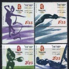 Francobolli: ISRAEL - JUEGOS OLIMPICOS PEKIN (2008) **. Lote 87498432