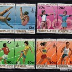 Sellos: PENRHYN 125/32** - AÑO 1980 - JUEGOS OLÍMPICOS, MOSCÚ 80. Lote 90697925