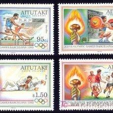 Sellos: AITUTAKI 1992 - JUEGOS OLIMPICOS DE BARCELONA 92. Lote 91130915