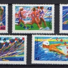 Sellos: CANADA 1992 - BARCELONA OLYMPICS 92 - YVERT Nº 1244-1248** - MICHEL 1289-12 - SCOTT 1414-1418. Lote 269496468