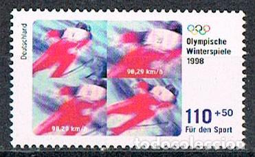 ALEMANIA IVERT Nº 1801, ESQUI, JUEGOS OLIMPICOS DE INVIERNO EN NAGANO (JAPON), NUEVO *** (Sellos - Temáticas - Olimpiadas)