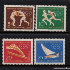 Sellos: ALEMANIA ORIENTAL 462/65** - AÑO 1960 - JUEGOS OLÍMPICOS, ROMA 1960. Lote 268170494
