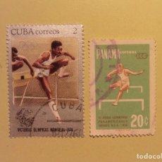 Sellos: CUBA - ATLETISMOS - SALTO DE VALLAS. Lote 94805423