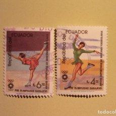 Sellos: ECUADOR - JUEGOS OLIMPICOS DE INVIERNO YUGOESLAVIA - PATINAJE ARTISTICO. Lote 94805579