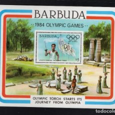 Sellos: BARBUDA HB 78** - AÑO 1984 - JUEGOS OLÍMPICOS, LOS ÁNGELES 84. Lote 95920871