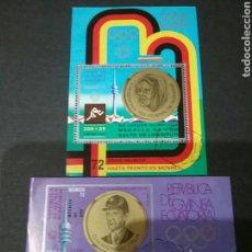 Sellos: 2 HH B DE G. ECUATORIAL MATASELLADAS. 1972. OLIMPIADAS. DEPORTES. JUEGOS. ALEMANIA. MUNICH.. Lote 97760574