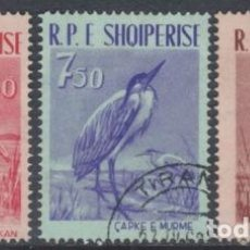 Sellos: ALBANIA 1961 IVERT 552/4 - FAUNA - AVES DIVERSAS. Lote 99970703