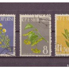 Sellos: ALBANIA 1962 IVERT 573/5 - FLORA - PLANTAS MEDICINALES. Lote 99972443