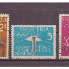 Sellos: ALBANIA 1962 IVERT 576/80 - JUEGOS OLIMPICOS DE TOKIO (I) - DEPORTES. Lote 99972575