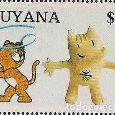 Sellos: GUYANA 1988 - OLYMPICS BARCELONA 92 - Y SEUL 88 - MASCOTAS. Lote 100455591
