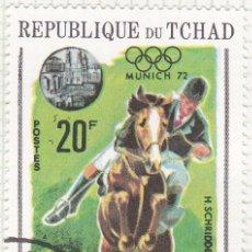 Sellos: 1970 - CHAD - JUEGOS OLIMPICOS - MUNICH 72 - HIPICA. Lote 100748631