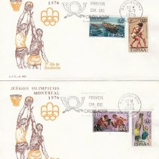Sellos: EDIFIL 2340/3, JUEGOS OLIMPICOS DE MONTREAL, PRIMER DIA DE 9-7-1976 EN DOS SOBRES DEL SFC . Lote 100760403