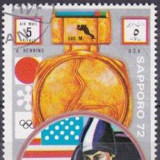 Sellos: 1972 - AJMAN - JUEGOS OLIMPICOS SAPPORO 72 - A.HENNING - MEDALLISTAS ORO - USA - VELOCIDAD. Lote 101004927