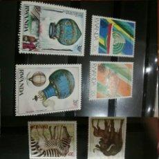 Sellos: SELLOS DE RWANDA NUEVOS (9V).1984. DIRIGIBLE. CEBRA. BUFALO. FAUNA.CABALLO.VELA.FUTBOL.BARCO. Lote 101031888
