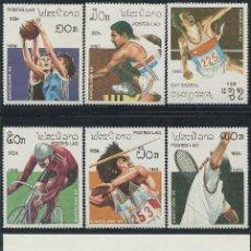 Sellos: LAOS 1990 - OLYMPICS BARCELONA 92 - YVERT 943-948 + BF 109 - MICHEL 1193-1198 + BLOCK 131. Lote 101315727