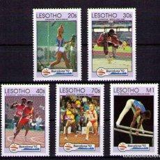Timbres: LESOTHO 1992 OLYMPICS BARCELONA 92 - YVERT Nº 1032-1036 - MICHEL 990-994 - SCOTT 917-921. Lote 101318311