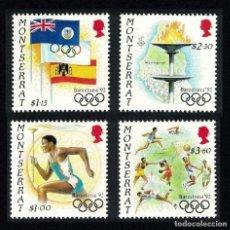 Sellos: MONTSERRAT 1992 - OLYMPICS BARCELONA 92 - YVERT Nº 776-779 - MICHEL 829-832 - SCOTT 795-798**. Lote 105723503