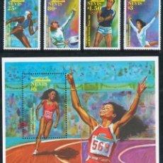 Sellos: NEVIS 1992 - OLYMPICS BARCELONA 92 - YVERT Nº 630-633 + HB 47**. Lote 105727919