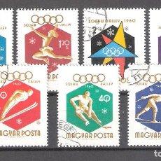 Sellos: HUNGRIA Nº 1353/59º JUEGOS OLÍMPICOS DE INVIERNO EN SQUAW VALLEY. SERIE COMPLETA. Lote 105744951