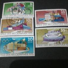 Sellos: SELLOS DE ALEMANIA (R.D.ALEMANA.DDR) MATASELLADOS.1976. CICLISMO.DEPORTES.ESTADIOS. ATLETAS. Lote 105754782
