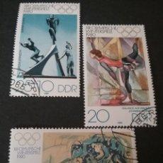 Sellos: SELLOS DE LA R. D. ALEMANA (DDR) MTDOS. 1980. JUEGOS. INVIERNO. LAKE PLACID. SALTO. BOBSLEIGH.. Lote 105795059