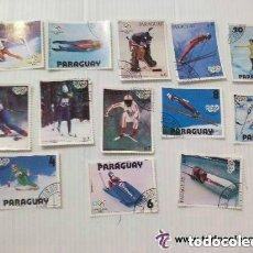 Sellos: LOTE DE 13 SELLOS DE PARAGUAY : JUEGOS OLIMPICOS DE INVIERNO DE LAKE PLACID 1980. Lote 105809411