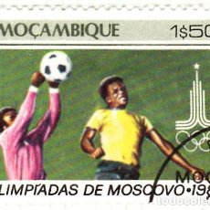 Sellos: 1980 - MOZAMBIQUE - OLIMPIADAS DE MOSCU - FUTBOL - YVERT 760. Lote 105994003