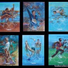 Sellos: PALAU - OLYMPICS BARCELONA 92 - YVERT BF 13-18 - MICHEL BLOCK 15-20 - SCOTT SS 304-309. Lote 269496488