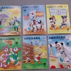 Sellos: SELLOS TEMATICA OLIMPIADAS - DISNEY - SEOUL 1988 - GRENADA - MNH** - NUEVOS.. Lote 106597739