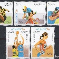 Sellos - Laos 1996 Ivert 1207/11 *** Juegos Olimpicos de Atlanta - Deportes - 107495975