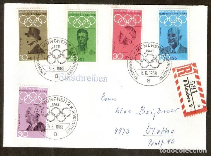 ALEMANIA FEDERAL.1968. MI Nº 561/565. SPIELE 1968.OLIMPIADA. (Sellos - Temáticas - Olimpiadas)