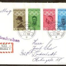Sellos: ALEMANIA FEDERAL.1968. MI Nº 561/565. SPIELE 1968. OLIMPIADA.. Lote 107726667
