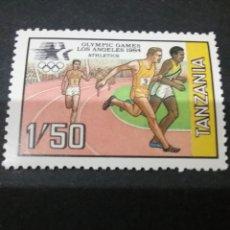 Sellos: SELLOS DE R. UNIDA TANZANIA NUEVOS. 1984. JUEGOS. LOA ANGELES. CARRERAS. RELEVOS. ATLETAS. DEPORTE. Lote 110813302