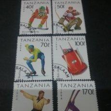 Sellos: SELLOS DE R. UNIDA TANZANIA MTDOS. 1994. JUEGOS. DEPORTES. INVIERNO. LELLENHAMMER. ESQUI. PATINAJE.. Lote 110838943