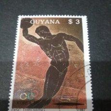 Sellos: SELLOS DE R. C. GUYANA (GUAYANA) MTDOS. 1987. JUEGOS. SEUL. DISCO. ATLETAS. GRIEGOS. DEPORTES. OLIMP. Lote 110930868