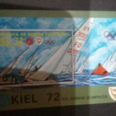 Sellos: HB/SELLOS DE GUINEA ECUATORIAL MTDA. 1972. DEPORYES ACUATICOS. VELA. JUEGOS. VELERO. ATLETAS. Lote 108284211