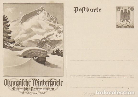ALEMANIA 3ª REICH, JUEGOS OLIMPICOS DE BERLIN 1936, ENTERO POSTAL SIN USAR (Sellos - Temáticas - Olimpiadas)