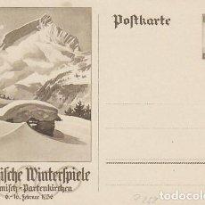 Sellos: ALEMANIA 3ª REICH, JUEGOS OLIMPICOS DE BERLIN 1936, ENTERO POSTAL SIN USAR. Lote 112443799