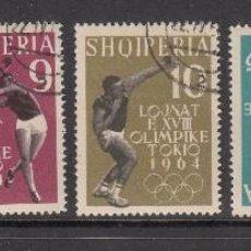 Sellos - ALBANIA 1962 - JJOO DE TOKYO - YVERT Nº 576-580 USADO - 114273059