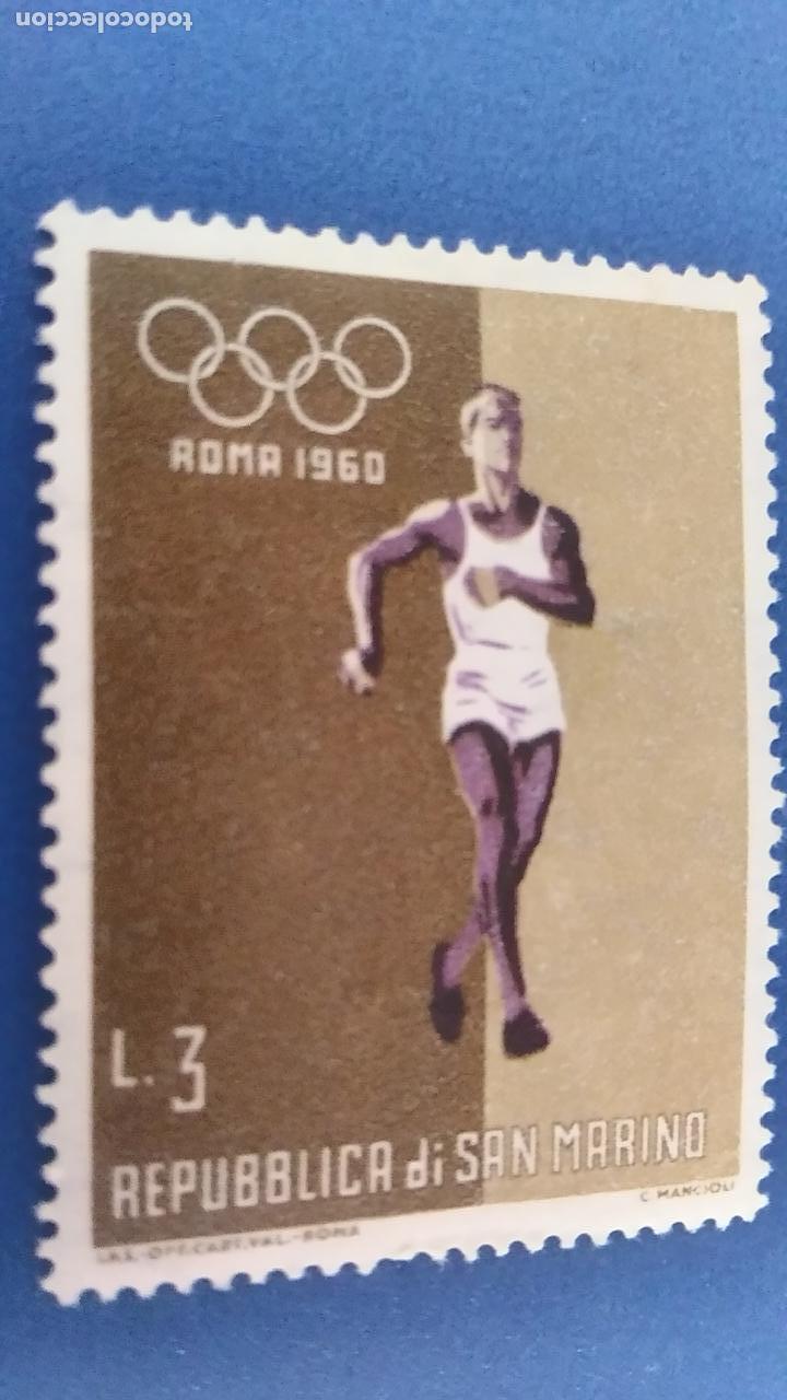 AÑO 1960. SAN MARINO. JUEGOS OLÍMPICOS ROMA 60. ATLETISMO (Sellos - Temáticas - Olimpiadas)