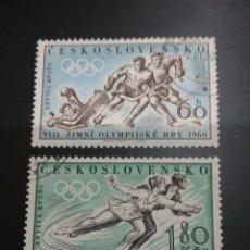 Sellos: SELLOS DE CHECOSLOVAQUIA MTDOS (USADOS).1960. JUEGOS. INVIERNO. HOKEY. PATINAJE. EE.UU. SQUAW WALLEY. Lote 122819588