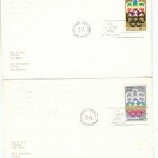 Sellos: CANADA, JUEGOS OLIMPICOS DE MONTREAL, PRIMER DIA DE 20-9-1973. Lote 124104975