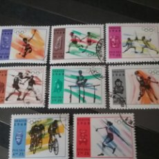 Sellos: SELLOS R. POLONIA (POLSKA) MATASELLADOS. 1968. JUEGOS MEXICO. BOXEO. JABALINA. PARALELAS. ATLETISMO.. Lote 125131991