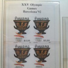 Sellos: HB. XXV OLYMPIC GAMES.. Lote 135697091