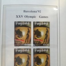 Sellos: HB. XXV OLYMPIC GAMES.. Lote 135697367