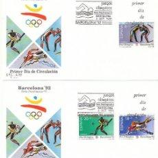 Sellos: EDIFIL 3076/8, JUEGOS OLIMPICOS BARCELONA, V SERIE PREOLIMPICA, PRIMER DIA DE 3-10-1990 SFC. Lote 136839586
